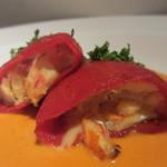 アバスク イチャスエタメンディ - ずわい蟹のピキオ 赤ピーマンのソース