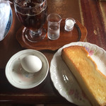 Koohiinoyakatasezon - モーニングセットA 430円  アイスコーヒーは+50円