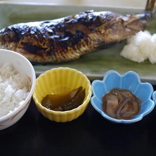 民宿 青塚食堂 - 料理写真:1296えん『特大にしん焼き定食』2014.9