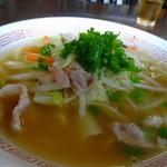 芦原食堂 - 料理写真:タンメン風味の中華そばでした