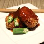 目白 咲き - 九条葱 と 蟹 のコロッケ (2014/09)
