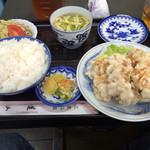 蓬山 - ( ̄Д ̄)ノ鶏天定食¥800