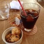 caffe  dolce - 水出しアイスコーヒーとチョコ&フレーククッキー