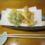 そば 三休 - 「小海老天ぷら」