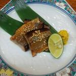 新富鮨 - さんまのワタ醤油焼