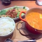 Soup&cafe たらTaRa  - スープセット 赤 980円