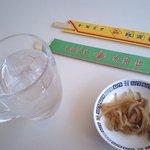 秀華樓 - ザーサイと割り箸