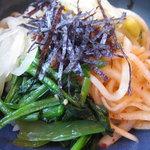 3080991 - 冷麺定食1200円:小ビビンバ