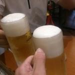 TAKE - 生ビールでカンパ~イ!