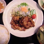 百彩 - 生姜焼き定食(750yen)