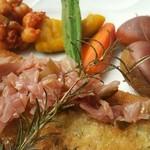 ぼだい樹 - ポークロース肉のハーブパン粉焼き1300 円