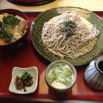 サガミ - カツ丼ランチ(^^)ざるそば大盛りサービス(^^)