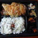 大戸屋 - 四元豚のロース生姜焼き弁当 781円