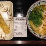 丸亀製麺 名古屋丸の内店 - かけ並にチクワ