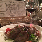 ワインカフェ 大森 - やわらかラム肉のガーリックソテー