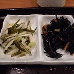 TSUDA屋 - ヒジキの煮物と漬物