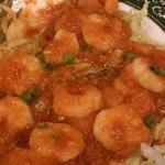 料麺館 - 海老チリ
