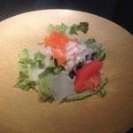 鉄板焼 天 本丸 - カニサラダ