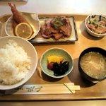ボブ - 和風セット 豚肉生姜焼き&エビフライ