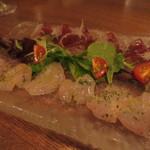 トラットリアチッチョ -  下田金目鯛と太平洋マグロのカルパッチョー!
