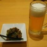30841099 - 牛筋小鉢&生ビールセット