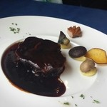 Resutorantoriibira - 信玄豚の肩ロース赤ワインソース