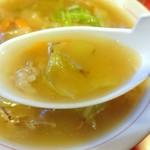 東来軒 - 旨いんだなあこのスープ♪
