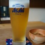 蕎麦正 なかや - 生ビール520円