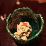 北新地 弧柳 - 和合物:クラゲといとうりしいたけのくるみあえ