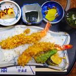 旬の味 伊藤屋 - 料理写真:海老天丼(松)定食