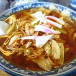 釜彦 - スープ入焼きそば750円