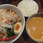 30853457 - つけ坦坦麺(トッピング:チャーシュー)、ごはん(小)