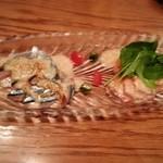 30853940 - 秋刀魚、サーモンのカルパッチョ