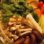 MA~なべや - 最初の野菜盛り合わせ