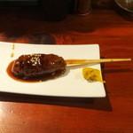 チャコールグリル 紅玉 - エゾ鹿串つくね300円(税抜)