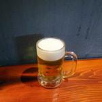 チャコールグリル 紅玉 - 生ビール510円+税
