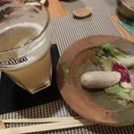 30866289 - ビールにはソーセージ~(^○^)。