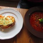 """ジャーナルカフェ - """"スープとパンのセット""""¥1,130"""