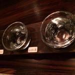 べじあげキッチン870 - 気まぐれ 利き酒 日本酒 ~かげとら・ほうらい泉・絹雪 1,000円。