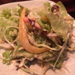 べじあげキッチン870 - お通し野菜(取り分け後)お替り可。