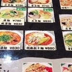 30870678 - 麺メニュー