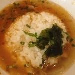 らーめん小鉄 - 〆の御飯 with スープ、いいね!