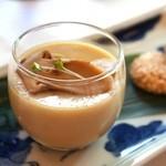 香桃 - 左:松茸のプリン  右:胡麻のクッキー