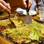 お好み焼き 福竹 - 2014.9 ミックスそば