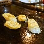 お好み焼き 福竹 - 2014.9 山芋のバター焼き(420円)