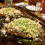 お好み焼き 福竹 - 2014.9 ふくたけ天、ふくたけチーズ