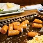 お好み焼き 福竹 - 2014.9 ウインナーのバター焼き(550円)