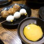 鶏ジロー - 料理写真:つくねとうずら