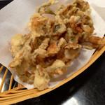 城崎マリンワールド アジバー - 料理写真:釣りたて・揚げたてのアジの天ぷら (2014.09現在)