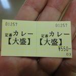 東京高裁第一食堂 きゃら亭 - 食券